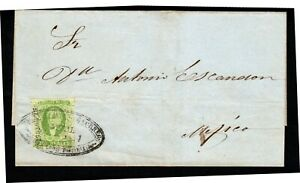 Mexico 19c wrapper dos reales imperf