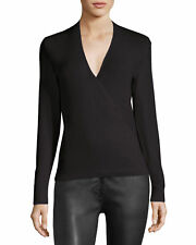 THE ROW Roanna Cashmere Silk Wrap Front Top Sweater Jumper - M / $1750