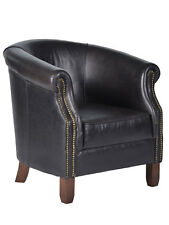 Design Clubsessel Nottingham Tub Chair OSB Vintage Leder Sessel Ledersessel NEU