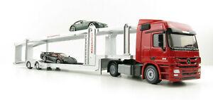 Siku 3934 Mercedes Benz Actros Kassbohrer Car Transporter inc 2 cars Scale 1:50