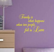 Family is what Happens Love Quote sticker decal vinyl wall art home decor FWH2