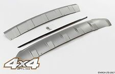 For Hyundai IX35 2010 - 2015 Silver Front & Rear Bumper Skid Plate Set