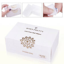 300Pcs BORN PRETTY Lint Free Wipes Cotton Pad Acrylic Nail Art Polish Gel Remove