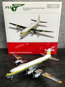 Herpa 1:200 Pan American Grace Airways (Panagra) DC-6 Reg: N90878 555791 NEW