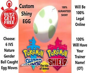 Custom Ultra Shiny Pokemon EGG 6IV Crown Tundra Pokemon Sword and Shield - Sale