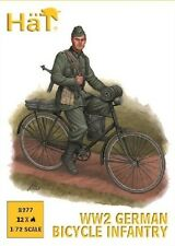 Hat 1/72 Plastic WWII German Bicycle Infantry figures Set 8277 New In Box!
