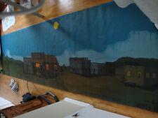 Western Montana Cowboy Ranch Saloon Folk Art Painting Mural Poster Banner