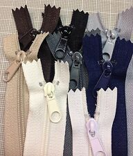 "WHOLESALE LOT OF 8 LONG PULL HANDBAG ZIPPERS 14"" Mixed Basic Colors #4 (5.1mm)Ny"