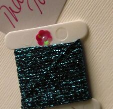 Teal / Dk Turquoise Blue 4 Ply Silky Heavy Metallic Thread x 3m Wonderfil Sizzle