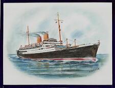 Original Art Work ...ss BERLIN... (4)  Norddeutsche Lloyd... ocean liner