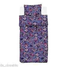 ikea twin natvide duvet quilt cover and pillowcase paisley blue multicolor nwot - Duvet Covers Ikea