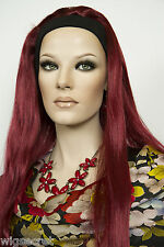 Long Straight Blonde Brunette Red Wigs with Headbands