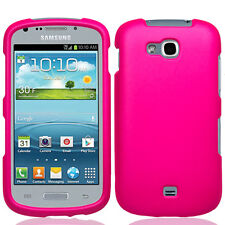 Samsung Galaxy Axiom R830 Rubberized HARD Protector Case Phone Cover Hot Pink