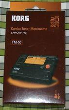 Korg TM-50 Combo Música Metrónomo Afinador afinación de la gaita palletas drones