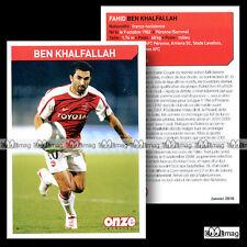 BEN KHALFALLAH FAHID (VALENCIENNES AFC) - Fiche Football 2010
