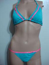 NWT Women's Skinny Dip Bikini Swim Suit Light Blue/Pink Size Large #32