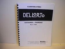Del lorto Carburetor 1960 Parts Manual