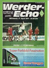BL 90/91 SV Werder Bremen - 1. FC Nürnberg