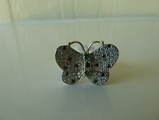 925 Sterling silver Ring, natural stones and CZ, Size7, Registered Post Free NWT