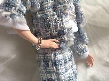 Barbie Schmuck, Armband Perlen silber für Vintage/ Silkstone Puppen