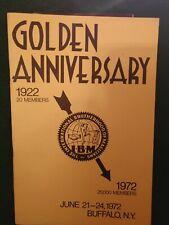Ibm 1972 Buffalo New York Convention Souvenir Program Iconic Magicicans Photos