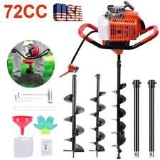 6272cc Post Hole Digger Gas Powered Earth Auger Borer Machine 3 Auger Drill Bit