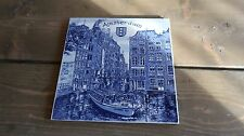 Vintage 1955 Delft Blue Amsterdam Wall Plate