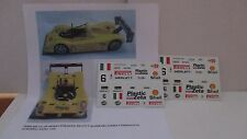 DECAL FERRARI 333 SP MOMO CAMPIONATO EUROPEO 1998 CALDERARI-ZADRA #6 SCALA 1/18