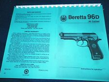 BERETTA  SERIES  81  OWNERS MANUAL,   20 PAGES