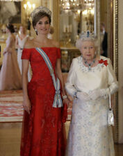 Queen Elizabeth II and Queen Letizia of Spain UNSIGNED photograph - M5000