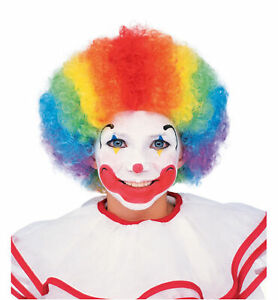 Clown Circus Birthday Party Funny Afro Fro Child Kids Boys Costume Wig