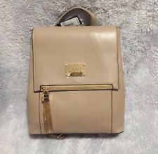 Bebe Taupe Zsa Zsa Flap Backpack