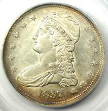 1837 Capped Bust Half Dollar 50C - Certified PCGS AU50 - Rare Coin - Nice Luster