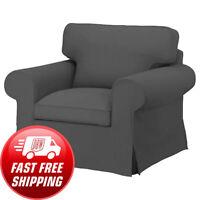 Ikea EKTORP Armchair (Chair) Slipcover Cover NORDVALLA DARK GRAY New! Sealed!