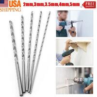 Extra Long Precision HSS Twist drill bit set 5pc 2mm,3mm,3.5mm,4mm,5mm
