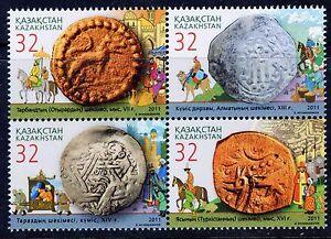 2011. Kazakhstan. Ancient coins of Kazakhstan. MNH. Block of 4. Sc.644