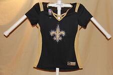 New Orleans Saints NFL Fan Fashion JERSEY/Shirt MAJESTIC Womens Medium NWT $55