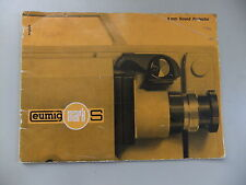 Instructions CINE projecteur EUMIG MARK S sound-CD/E-mail