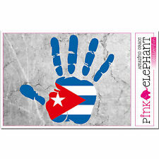 Kuba - main paume Doigt Imprimer - étiquette Drapeau DESSIN CUBA mano