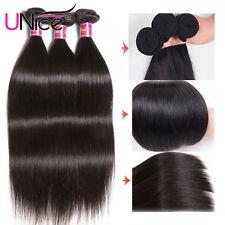 UNice Malaysian Straight Hair Extensions 3 Bundles 100% Human Hair Weaves 8