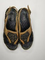 Ariat Sandals Sz 7.5B Open Toe Clogs Mules Brown Leather Womens