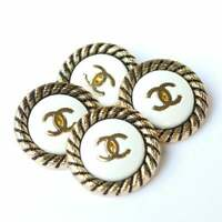 4 FourVintage Stamped Chanel Buttons 4 pcs  😍😘👍23 mm