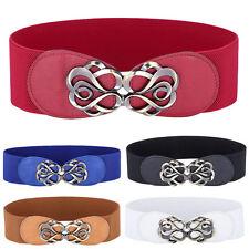 rétro femmes Métal Boucle ceinture large élastique Robe Lanières bracelet
