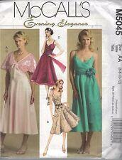 UNCUT sewing pattern McCalls M5045 evening dress bolero wrap size 6 8 10 12