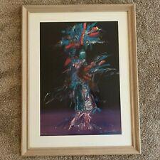 "Pablo Antonio Milan (1961) ""The Harvest Dancer"" Native American Serigraph Print"