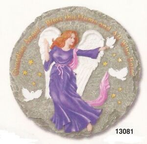 Guardian Angel Bless This Home Resin Stepping Stone Wall Plaque, NIB [13081] OoP