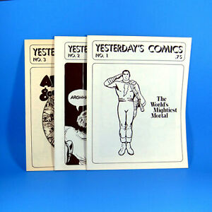 Yesterday's Comics complete set of 3 fanzines. Larry Herndon. 1973-74. VF 8.0