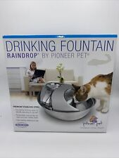 New listing Brand New Pioneer Raindrop Stainless Steel Pet Drinking Fountain Dog Cat