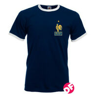 Retro styled France World Cup T-shirt Nostalgic Shirt World Cup Zidane NEW