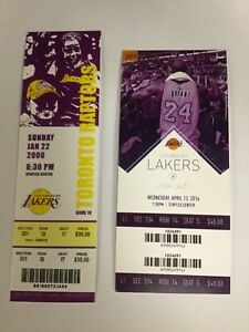 KOBE BRYANT 81 POINT & LAST GAME TICKET STUB REPRINTS MINT LA LAKERS PLESAE READ